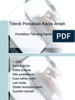 Teknik Penulisan KIR