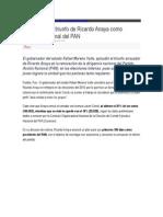 18-08-2015 SDP Noticias.com - RMV Respalda Triunfo de Ricardo Anaya Como Dirigente Nacional Del PAN