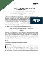 Impacto de La Reforma Fiscal en Las Microempresas