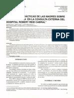 Actitudes, Practicas de Las Madres Sobre La Vacunación en La Consuta Externa en El Hospital Robert Reid Cabral