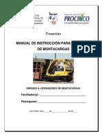 Manual Del Operador de Montacargas