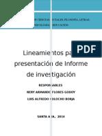 Lineamientos de Presentación de Informe (APA) Adaptado