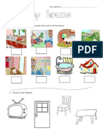 44295 My House Worksheet for Young Learners