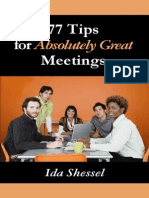 77 Tips for Absolutely Great Meetings