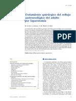 Tratamiento Quirúrgico Del Reflujo Gastroesofágico Del Adulto Por Laparotomía