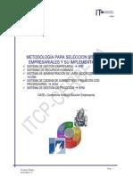 METODOLOGÍA PARA SELECCION SISTEMAS EMPRESARIALES