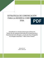 Estrategias de Comunicación - Reserva Comunal El Sira