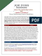 Joe Foss Institute - Adopt a Veteran Scholarship Essay 2015