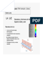 La Luz - Naturaleza y fenómenos de interacción - Espectro visible y color
