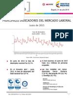 Boletín de Empleo al mes de Junio de 2015
