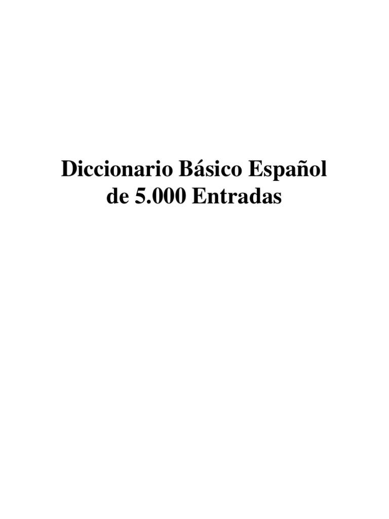 b7072888120 Diccionario Basico Español de 5.000 Entradas