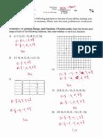 PCS1314 Algebra I Chapter 3 Test KEY