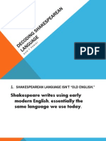 Decoding Shakespearean Language