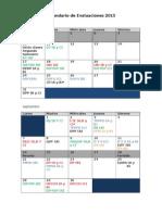 Calendario Académico Definitivo 2 Semestre 2015
