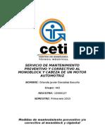 SERVICIO DE MANTENIMIENTO PREVENTIVO Y CORRECTIVO AL MONOBLOCK Y CABEZA DE UN MOTOR AUTOMOTRIZ (2).doc