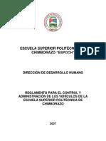 6705d3 Reglamento Interno Para El Control y Administracion de Los Vehiculos Espoch Puyo