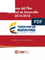 Bases PND 2014-2018F Final Plan Nacional de Desarrollo Juan Manuel Santos