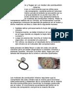 Compresimetro y Fugas en Un Motor de combustión interna