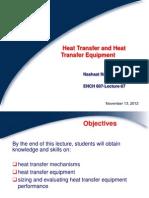 ENCH607-F2012-L07-Heat Transfer and Heat Transfer Equipment