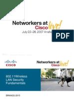 802.11 Wireless LAN Security Fundamentals