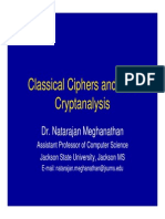 module Classical Ciphers Cryptanalysis 2