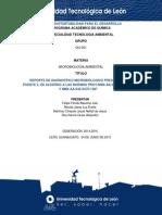 REPORTE DE DIAGNOSTICO MICROBIOLOGICO PRESA BLANCA