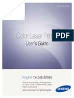 Samsung - CLP-315 - Color Laser Printer Guide