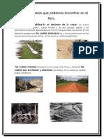 Tipos de Suelos en Las Regiones Del Peru
