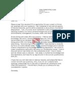 Instructor Covering Letter 1
