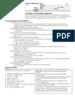 Tipos Reacciones, Ecuaciones Quimicas y Ejercicios