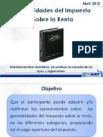 1 Generalidades Del ISR --CANG Abril-2015