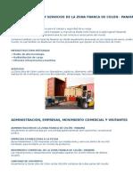 Infraestructura y Servicios de La Zona Franca de Colón