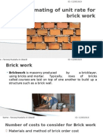 Brick and Plastering