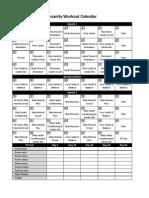 Insanity Workout Calendar Simple