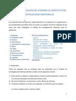 Criterio de Citación del Instituto de Investigaciones Históricas