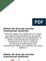 Aletas de Área de Sección Transversal Uniforme