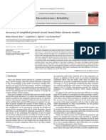Accuracy of simplified printed circuit board finite element models