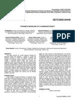 [DETC2005-84446] Dynamics Modeling of a Humanoid Robot