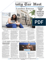 The Daily Tar Heel for August 20, 2015