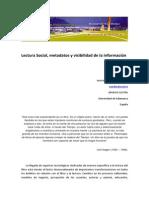 Lectura Social Metadatos y Visibilidad de La Informacion - Cordon y Arevalo 2014