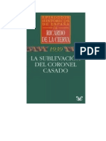 De La Cierva Ricardo - La Sublevacion Del Coronel Casado