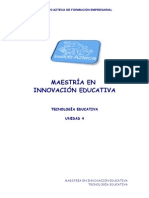 TECNOLOGIA EDUCATIVA DE MAESTRIA