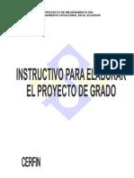 Instructivo Para Elaborar El Proyecto de Grado