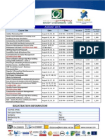 August Training Courses