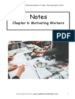 Chapter 6 Motivating Workers