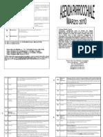 Agenda Parrocchiale Marzo 2010