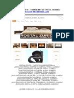 HOSTAL ZURICH - Hostal (Hotel) Zurich - Huercal-Overa, Almería (Almeria)