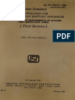 Specification for Glazed Fire-clay Sanitary Appliances