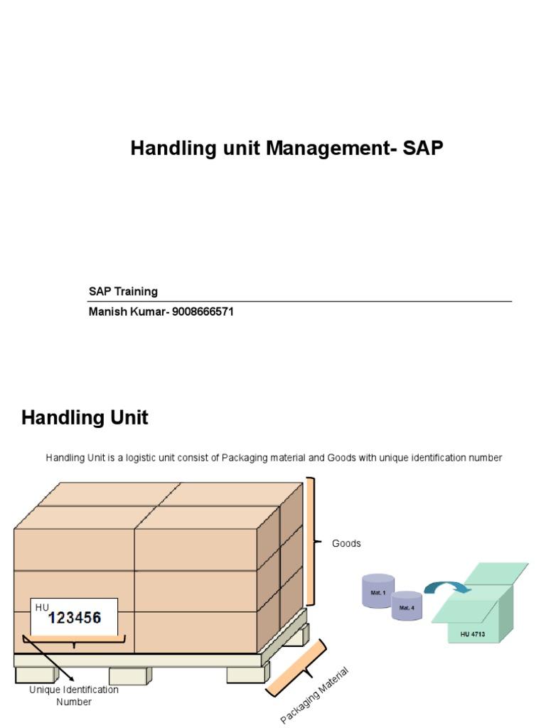 Handling Unit Managment-SAP