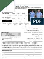 Aloha Wear Order Form